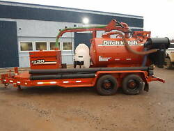 2011 Ditch Witch FX30-800 Gallon Vacuum Excavator Trailer Mounted HydroExcavate