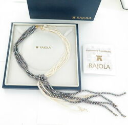 .stunning Handmade Rajola 18ct Yellow Gold And Freshwater Pearl Statement Necklace
