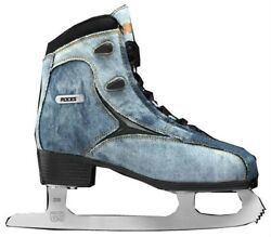 Roces Womenand039s Denim Glamour Figure Ice Skates Lace-up Superior Italian Navy