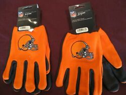 Two Pair Of Cleveland Browns Sport Utility Gloves From Forever Collectables