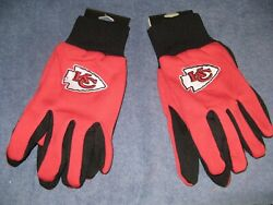 Two Pair Of Kansas City Chiefs Sport Utility Gloves From Forever Collectables