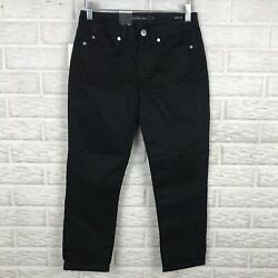 Calvin Klein Womens Skinny Crop Jeans Size 2 Black Stretch Mid Rise NEW Cuffed $21.21