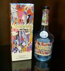 🥃 Hennessy Vs Cognac Limited Edition By Jonone Graffiti Empty Bottle With Box