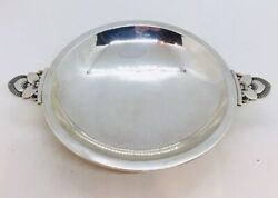 Georg Jensen And Wendel Denmark Antique Sterling Silver 2 Handle Cactus Dish 629a