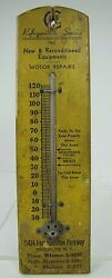 Old Refrigeration Service Brooklyn New York Advertising Thermometer Deli Foods
