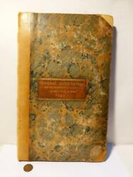 1841 Bedale Protection Property And Prevention Crime Police Minute Book Unique