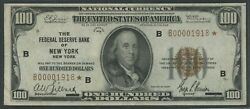 Fr1890-b 100 1929 Frbn Star Note Choice Vf+ Only 13 Recorded Wlm9803
