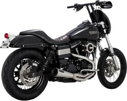 Vance And Hines 27625 Raw Upsweep 2-into-1 Exhaust System Harley Dyna Fxd 91-17
