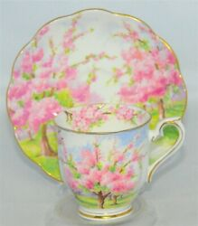 Royal Albert Blossom Time Demitasse Cup And Saucer Set
