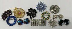 Awesome Lot Vintage Designer Signed Costume Jewelry Weiss Trifari Peninio Ciner