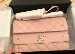 CHANEL Pink Quilted Lamb leather Shoulder bag Free Shipping from JAPAN
