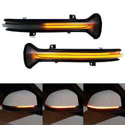 Smoked Lens Side Mirror Sequential Blink Turn Signal Light For Bmw 5 7 Series