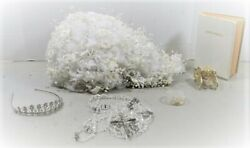 A21 Quinceanera Lot Bouquet Corsage Bible Rosaries Tiara Gold Carriage Coins Gwp
