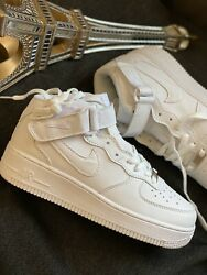 Nike Air Force 1 High Triple White Shoes NEVER WORN Size 7US  Women's Low