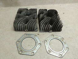 Moto-ski Snowmobile 340 Bse Pr Of Cylinder Heads And Gaskets, Great Shape, Ready