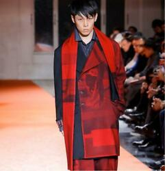 Yohji Yamamoto Pour Homme Red Long Coat 18aw From Japan Free Shipping