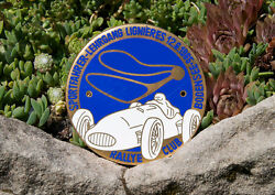 Vintage Enamel Badge Sports Driver Cours Lignieres Rally Club Bodensee 1965