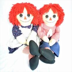 Raggedy Raggety Ann Anne Andy Andie Pair Doll Dolls Large 34 Classic Anabelle