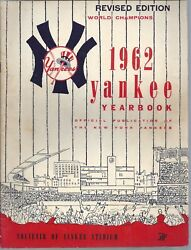 Vintage New York Yankees Yearbook 1962 World Champions Revised Edition