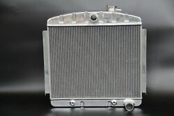 Polished Kks 3 Row Stamp Tank Radiator 1955 1956 Chevy Belair Bel Air 6cyl