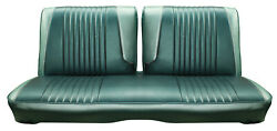 1963 Ford Galaxie 500 Front Split Bench Seat Cover - 2 Tone Turquoise