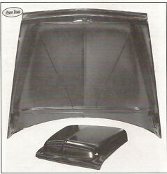 1955 Ford Pickup Truck Steel Hood-f100 And Bigger-new