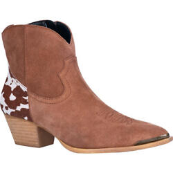 NEW Ladies Dingo by Dan Post Buck the Rules Tan Leather Western Boots Booties