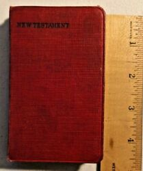Vintage 1940s The New Testament Pocket Bible By New York Bible Society -- 1383