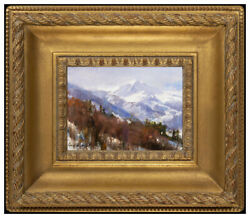 Cyrus Afsary Original Oil Painting On Board Mountain Landscape Signed Art Framed