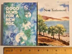 2x Vintage 1950s New Testament Pocket Bible By American Bible Society -- 1387