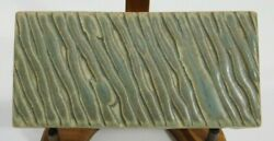 Motawi 5.75 X 2.75 Inches Pottery Tile Retired, Discontinued Arts And Crafts Moss