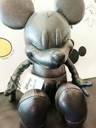 Coach Mickey Mouse Plush Doll Leather Stuffed Collectibles 75th Anniversary F/s