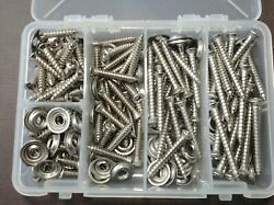 125pc Ford 8 W/6 Oval Head Stainless Door Kick Panel Screws Washers Assortment