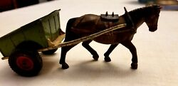 Vintage Collectable Antique Rare Toy Horse And Cart Made In 1946 By Britans Ltd
