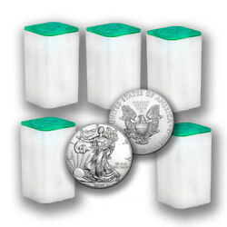 2020 1 Oz American Silver Eagle Coins Bu Lot Of 100 Five Mint Tubes 1 Us Coin