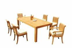 7pc Grade-a Teak Dining Set 86 Canberra Rectangle Table Giva Chair Outdoor