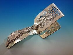 Chrysanthemum By And Co Sterling Silver Asparagus Tongs Rounded Wide