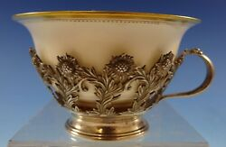 Chrysanthemum By And Co Sterling Silver Tea Cup With Lenox Liner 2634
