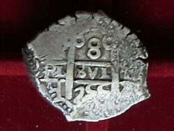 Bolivia. 1755 Cob 8 Reales.. Potosi Mint.. 2 Dates.. Vf - For Issue