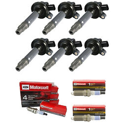 Ignition Coils And Motorcraft Platinum Spark Plugs For Ford Lincoln Mazda Sp411