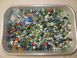 11 Lbs. Vintage Antique Marbles Different Sizes And Colors