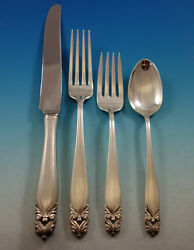 King Christian By Wallace Sterling Silver Flatware Set For 8 Service 32 Pieces