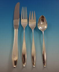 Vespera By Towle Sterling Silver Flatware Set For 8 Service 34 Pieces Modern
