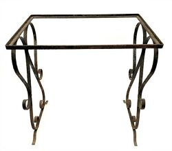 Vintage Used Black Metal Decorative Outdoor Plant Stand Table Parts
