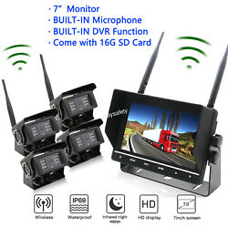 Wireless Backup Camera System With 7 Quad Lcd And 2, 3 Or 4 Cam Options Truck