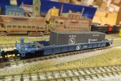 N-scale Custom Painted Great Northern Gn Well Car W/cont 28921