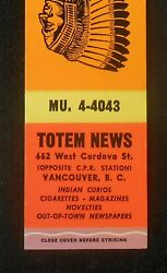 1950s Totem News Indian Curios Cigarettes Magazines Novelties Vancouver Bc Canad