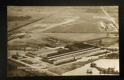 Rppc 1920s Aerial Ford Motor Co Engr Trimotor Airplane Plant Airport Dearborn Mi