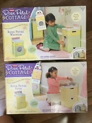 New And Rare Playskool Rose Petal Cottage Sink And Washer Set