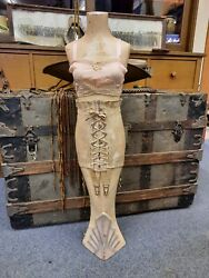 Antique 1920 Advertising Country Store Mannequin Corset Bra P.n.practical Front